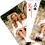"High-quality laminated poker deck. Finished size is 2.5"" by 3.5"" .<br /> <br /> Your photo must be at least 400 x 600 pixels in size.<br /> <br /> Playing cards have excellent color reproduction. Each deck comes in a sturdy clear plastic case."