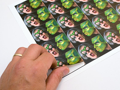 "Your photo prints with excellent color reproduction on twenty 1.6"" x 2.25"" stickers. All the stickers come on one sheet, and are pre-cut.<br /> <br /> These stickers are a great way to add a personalized touch to your greetings or to label your children's belongings.<br /> <br /> Your photo must be at least 320 x 240 pixels in size."