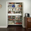 Kitchen pantry with ClosetMaid MasterSuite in White