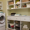 Laundry room with ClosetMaid MasterSuite in White