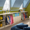 Playroom storage areas created with ClosetMaid MasterSuite in Antique White