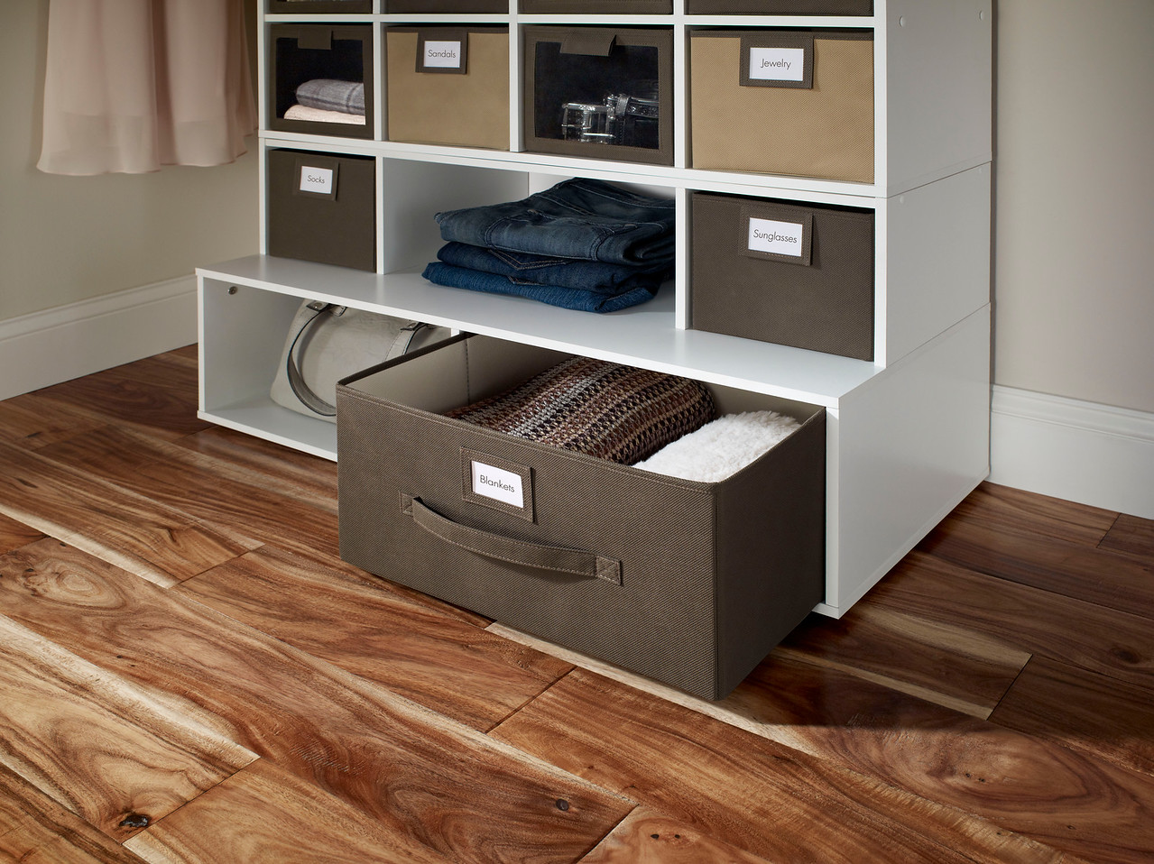 Fabric Drawer in Brown