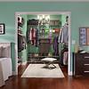 Master bedroom closet with ClosetMaid ShelfTrack in Nickel