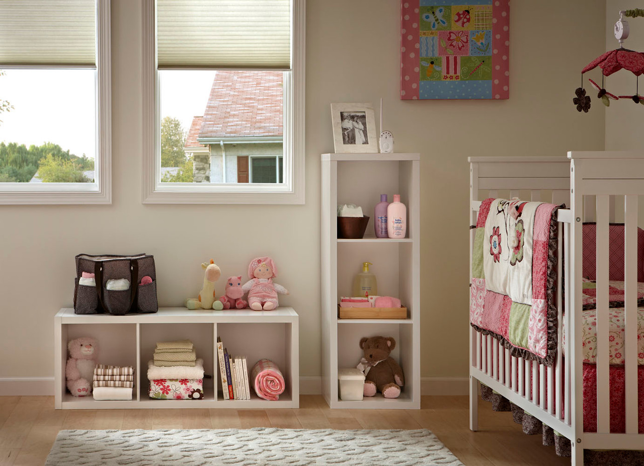 High Quality Nursery Room Storage Created With ClosetMaid Decorative Storage 3 Cube  Organizers In White