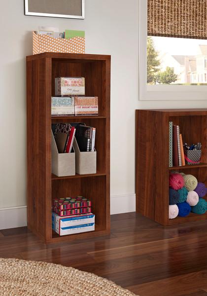 ClosetMaid Decorative Storage 3-Cube Organizer in Dark Cherry