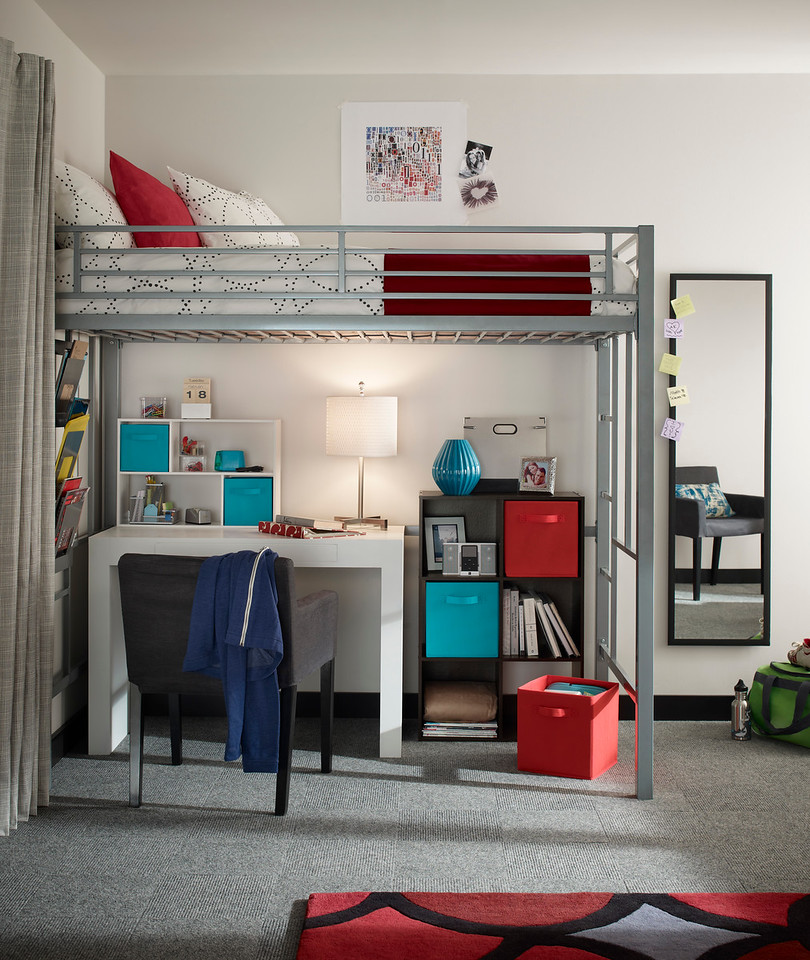 Study Area Featuring A ClosetMaid Cubeicals 6 Cube Organizer, Mini Off Set  Organizer