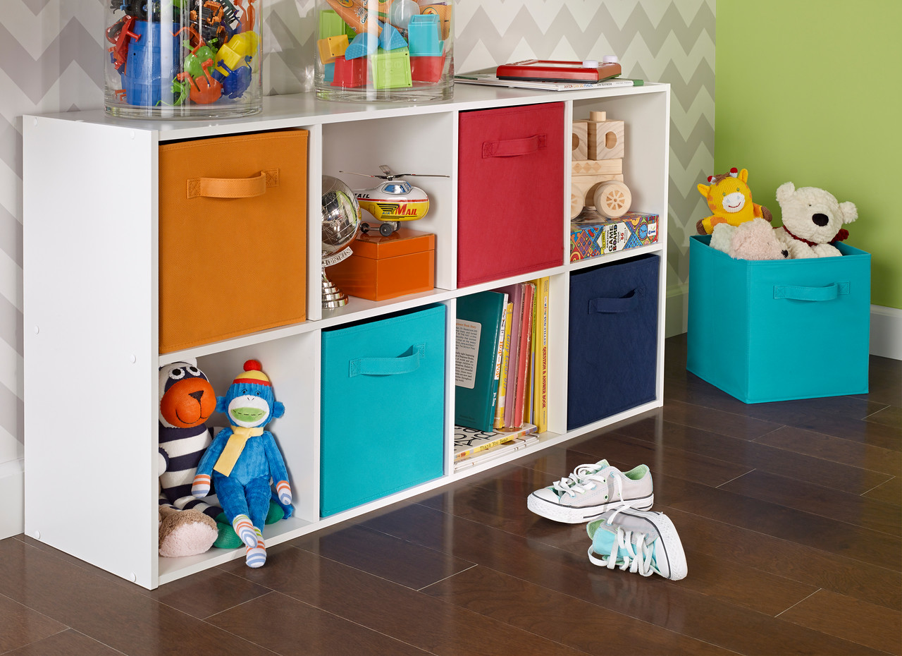 ClosetMaid Cubeicals 8-Cube Organizer with Fabric Drawers