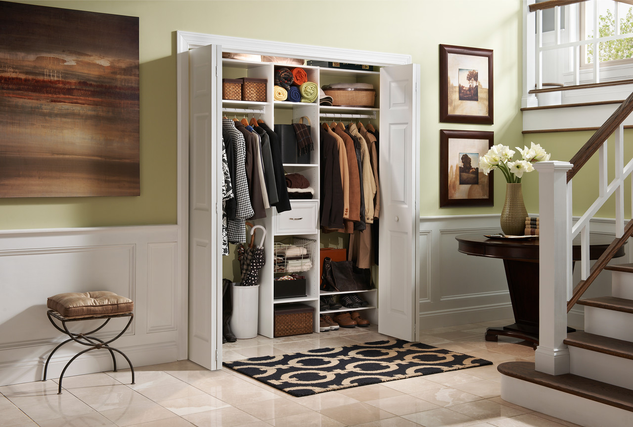 Hall closet featuring ClosetMaid Selectives in White