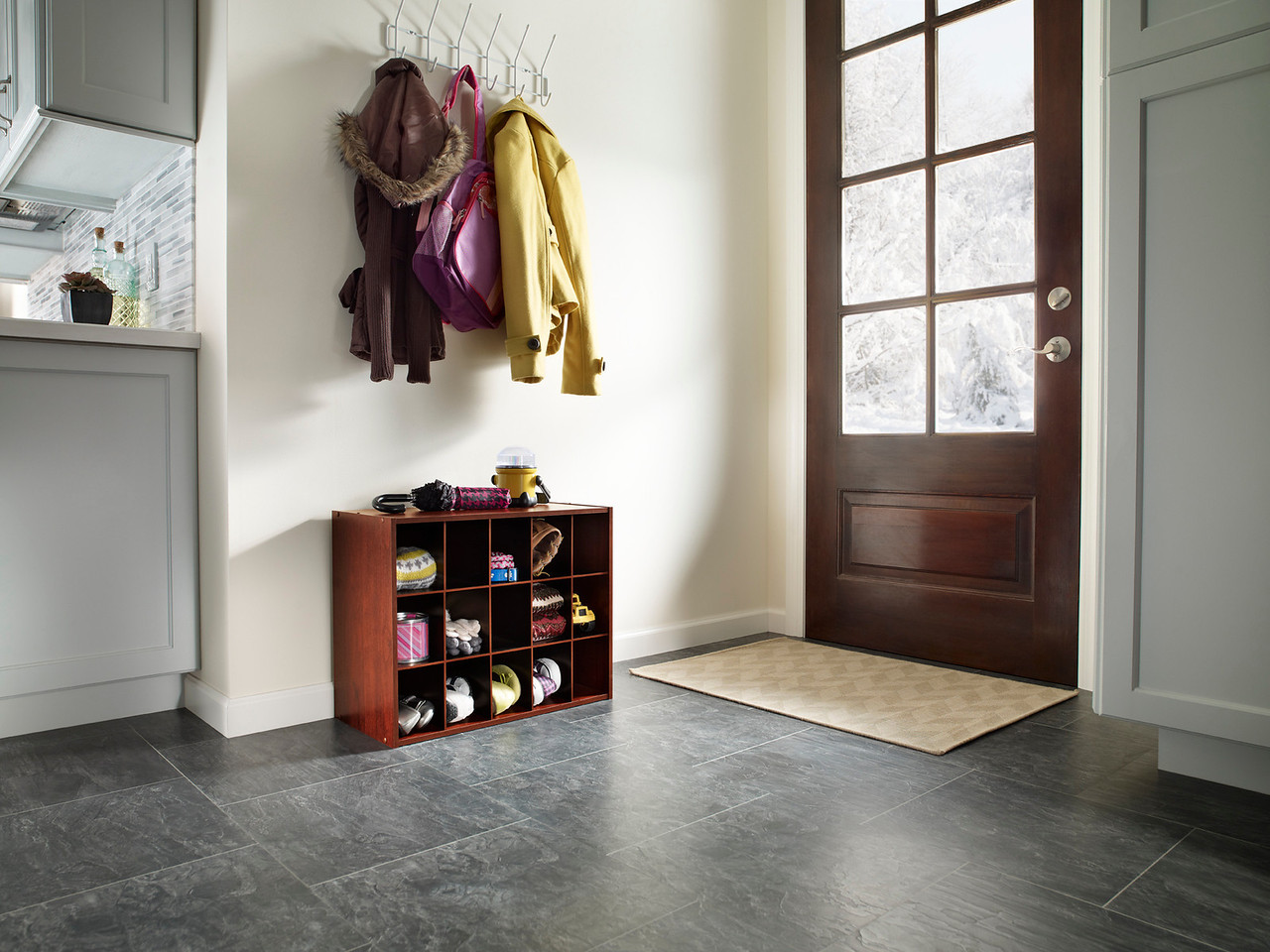 Easily add extra storage to your entryway with a ClosetMaid Stackable 15-Cube Organizer in Dark Cherry.