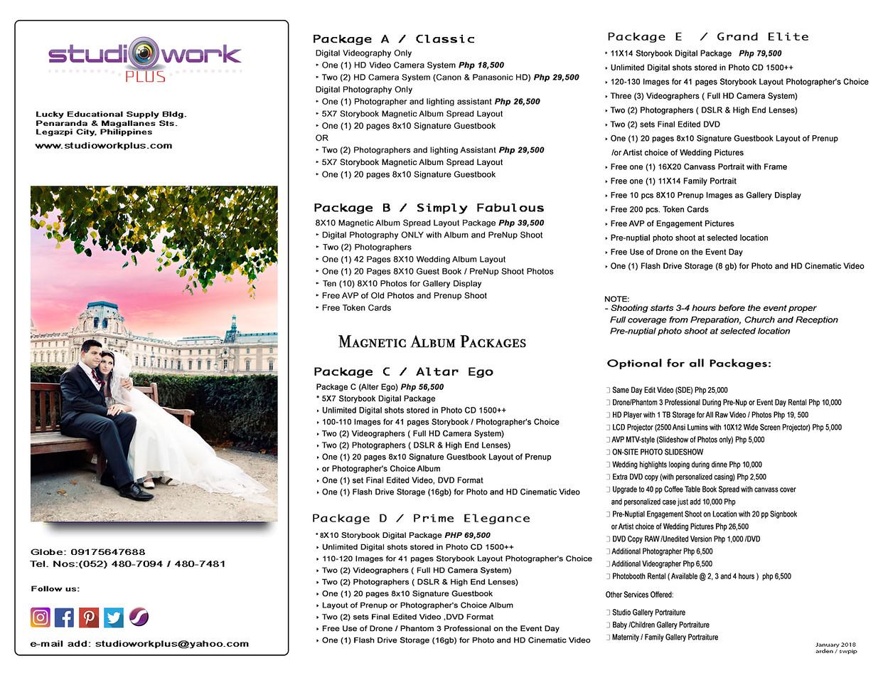 Wedding Photo & Videoart Film Packages