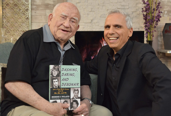 Ed Asner with Herbie J. Pilato