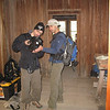 Neil & I getting our equipment ready for the hike.