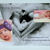 Custom  Flat Press Printed Birth Announcement
