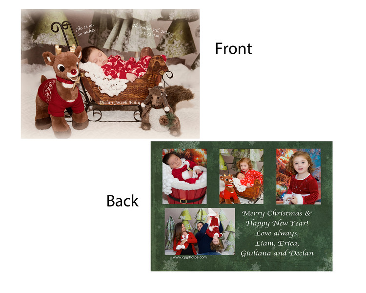 #4DF  Front was Birth Announcement back was Christmas