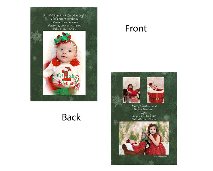 Front was Birth Announcement  Back was Christmas card
