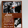 Front of a wedding thank you card