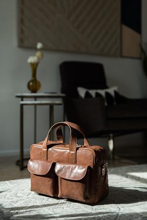 ERA 81 | Men's Leather Briefcase | Kristen Kay Photography-1