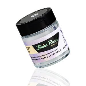 Bond Road 4oz Child-Resistant Glass Jars Custom Packaging Tilted