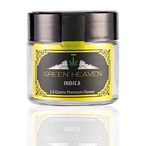 3OZ CR GLASS GREEN HEAVEN INDICA