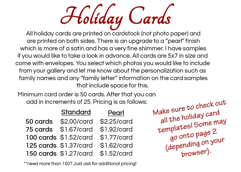 holiday cards copy