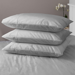 Hampton & Astley Silver Bedding Pillow Stack 1024