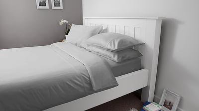 Hampton & Astley Silver Bedding lifestyle 1800x1000