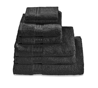 H&A Black Towel Stack