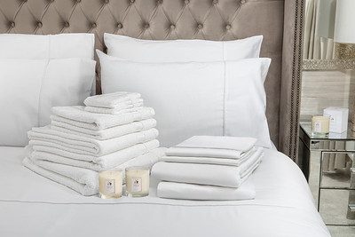 White Bedding Lifestyle With Candle v2