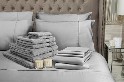 Grey Bedding Lifestyle With Candle v2 web res