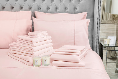 Pink Bedding Lifestyle With Candle v2