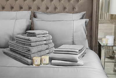 Grey Bedding Lifestyle With Candle v2