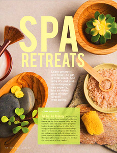 Sierra Living Magazine Spa Products