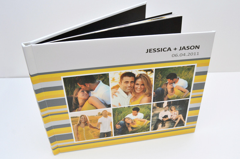 Hard Cover Book: Hard Cover Books are made with magazine style press papers and perfect bound at the spine. Wrap with one of our many colorful cover options, and you have a custom-made coffee table book to offer your clients.