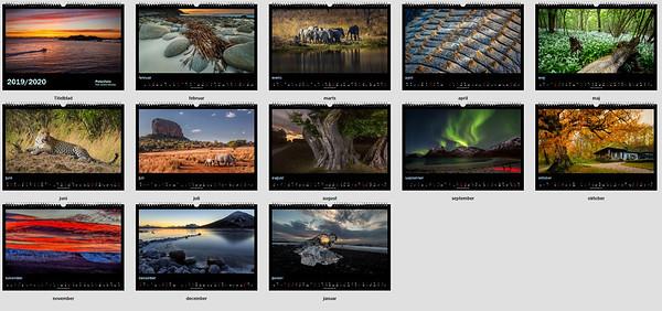 A3 - Panorama kalender 2019