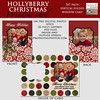 hollyberries christmas windowcard display