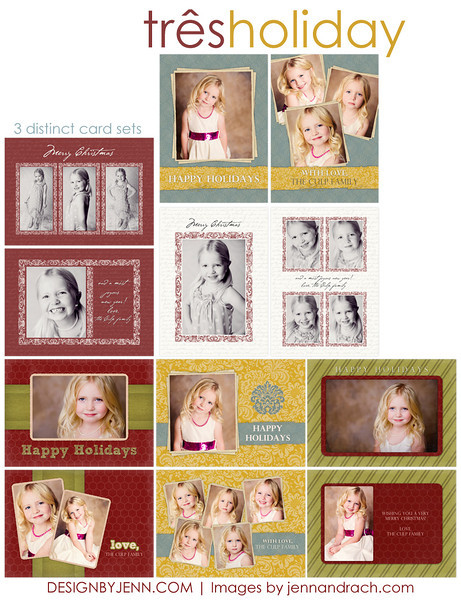 3 holiday cards preview