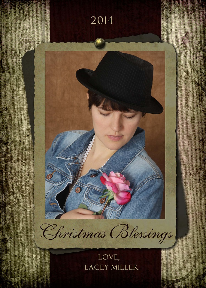 5x7 Christmas Blessings V