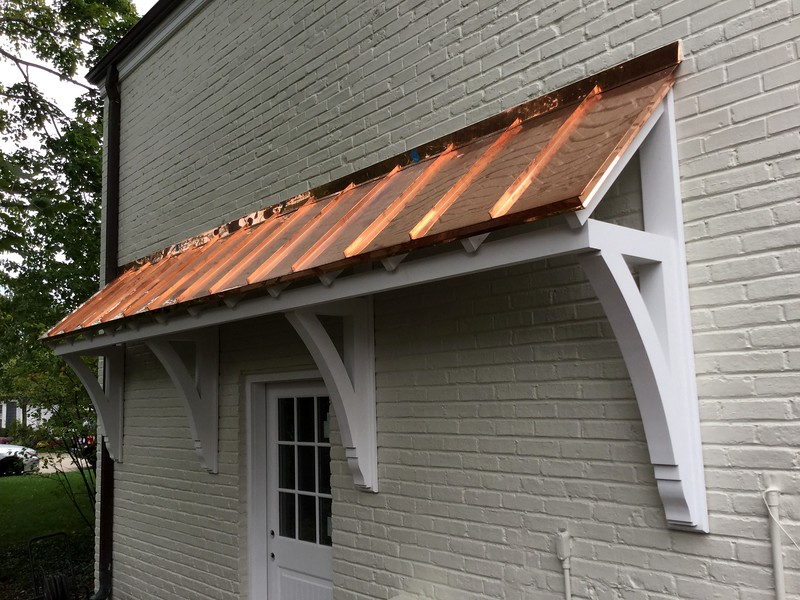 Custom Bracket with Roof Overhang