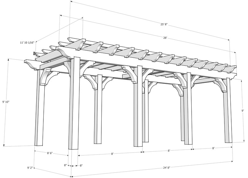 Custom Pergola Diagram