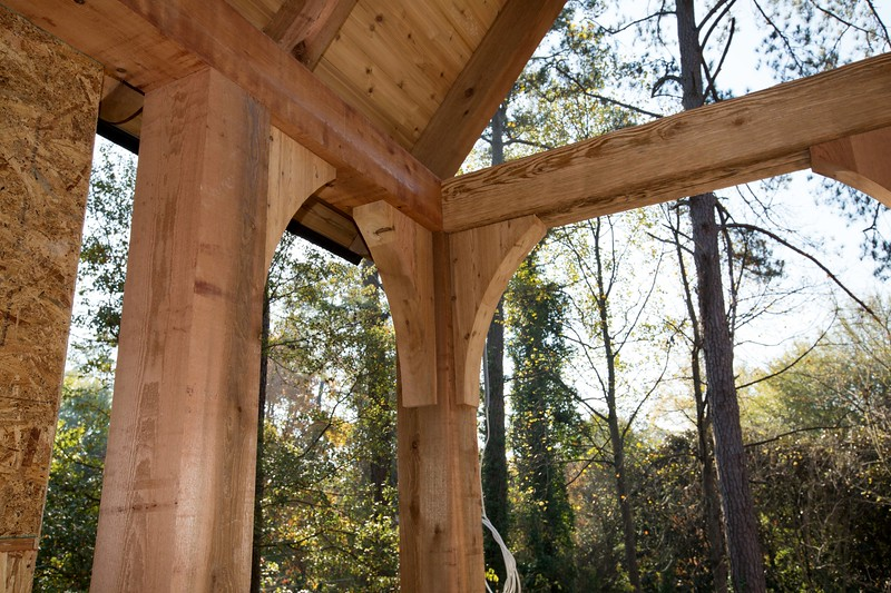 Custom Large Porch with Custom Corbels and Gable Bracket