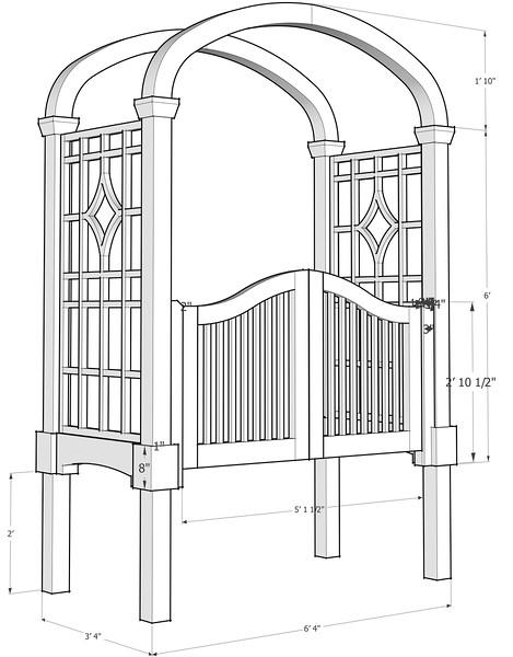 Entrance Garden Pergola/Arbor
