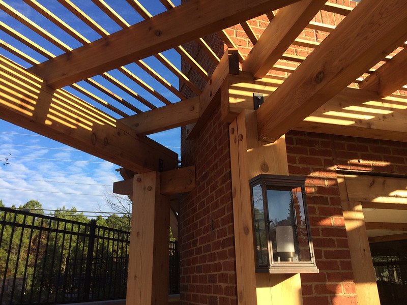 Pergola, Gazebo and Brackets for Chick-Fil-A
