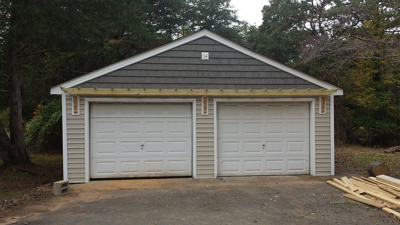 Trellis Over Garage Door