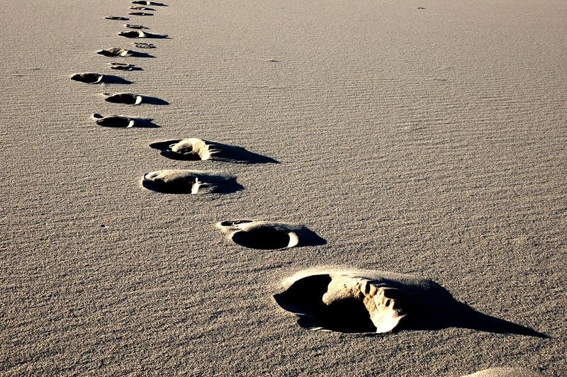 Steps To Nowhere at Eureka Dunes, CA