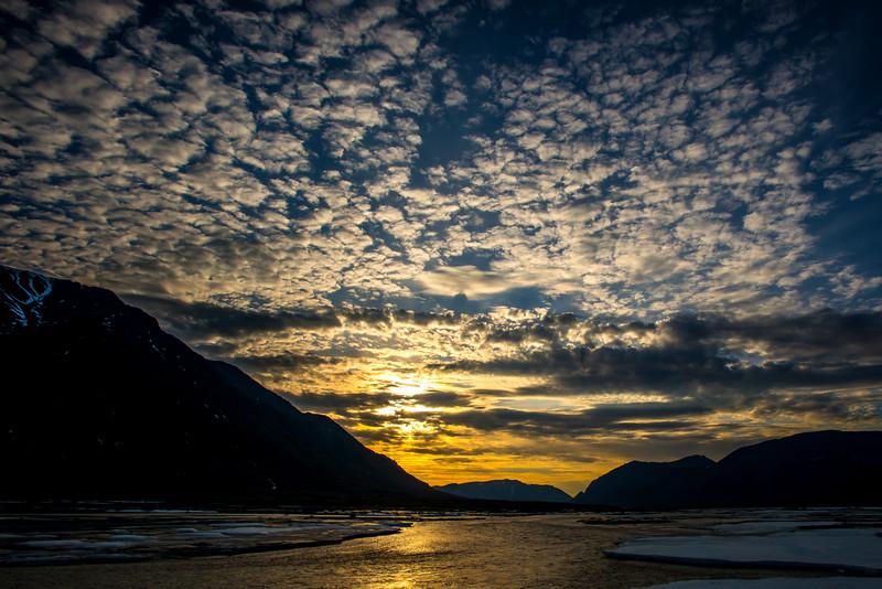 twilight sky on the marsh fork
