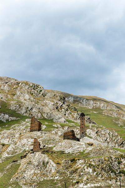 Ruins of Girevi in the National Park of Tusheti