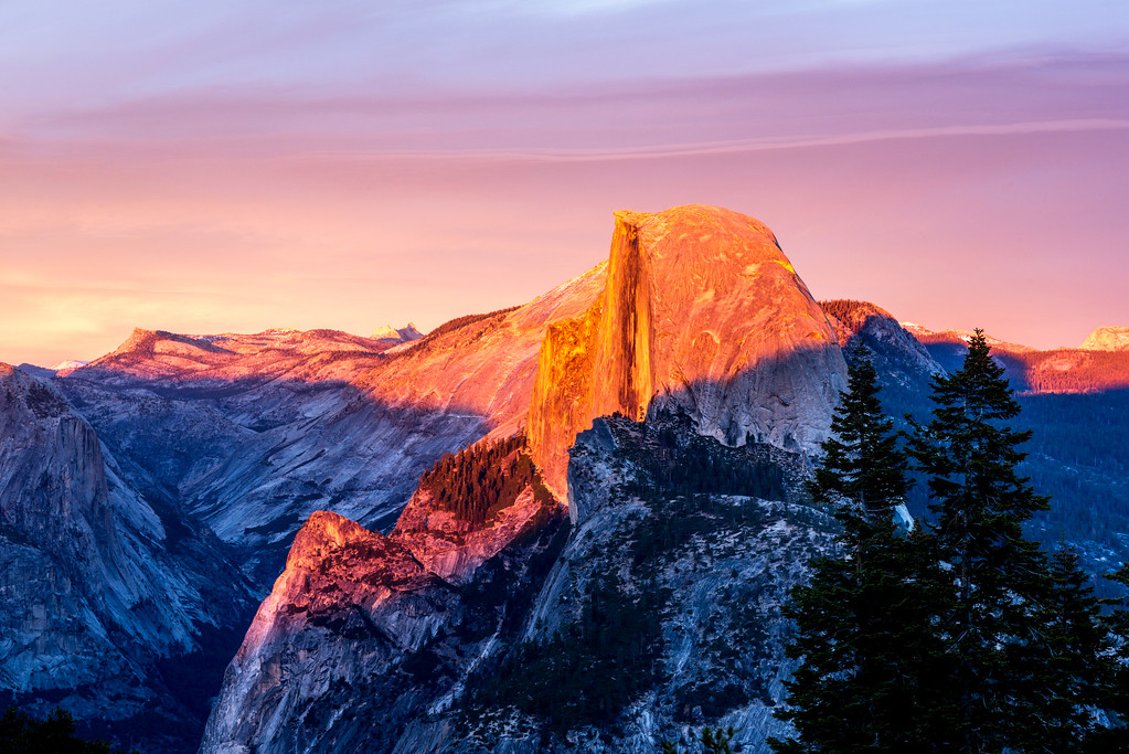 Yosemite Sunset from Glacier Point