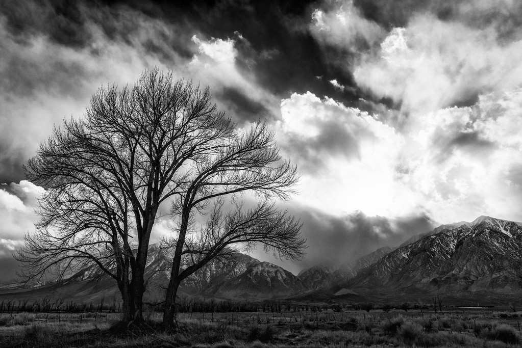 Storm Clouds over Mt. Tom in Black and White