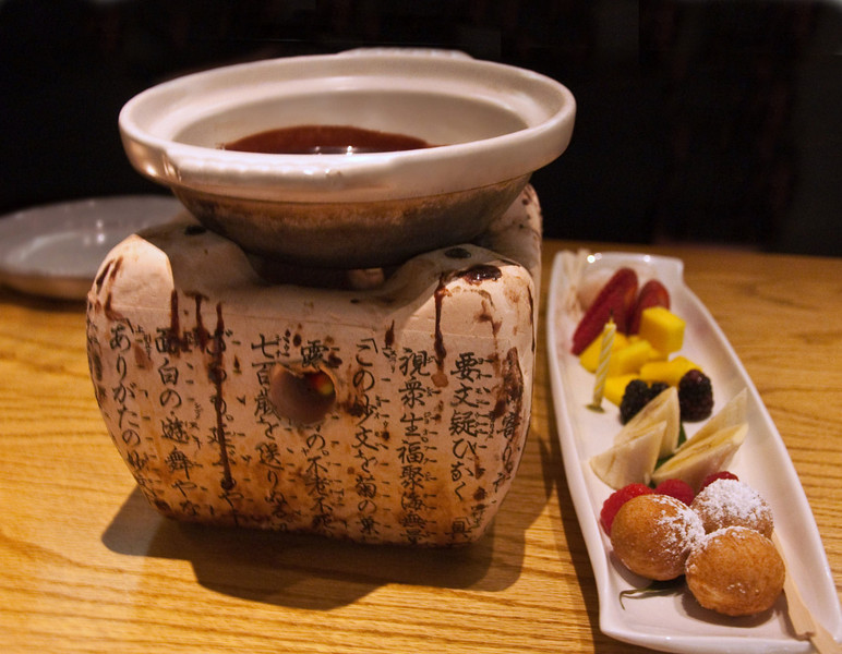 Chocolate Fondue at Ozumo in Oakland, California