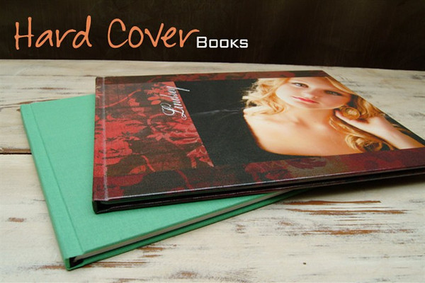 Customize the cover of your Hard Cover Book with your very own image.<br><br> The design will be printed on one of four substrates and wrapped around the album from front to back.<br><br> If selecting canvas, your image is printed on canvas substrate and a coat of lamination is added for protection.<br><br> Glossy covers are printed on photographic paper with a coat of high gloss applied.<br><br> Our Fuji Pearl option is printed on Fuji Pearl photographic paper with high gloss.<br><br> Satin Covers are made of E-Surface photographic paper with a coat of matte lamination on top.